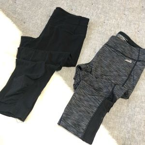 Two pairs of cropped leggings Avia & tek heat sz.L